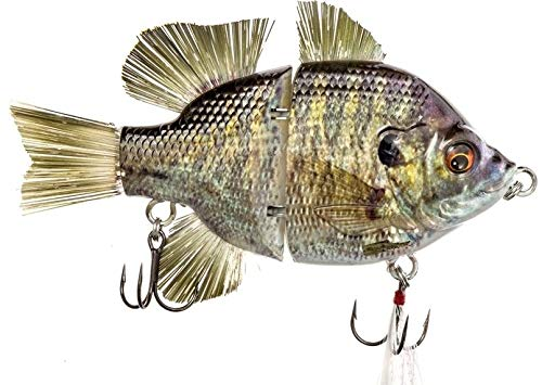 11,4 cm RF Gillman Glide Bait Musky Striper Fishing Big Lure Multi Jointed Shad Trout Kits Slow Sinking oder Floating (11,4 cm Brasse Bluegill Sink) von Real Fish