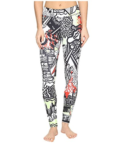 Reebok Damen Trainingshose Yoga Graffiti Collab Tights, Seafoam Green, 2XS von Reebok