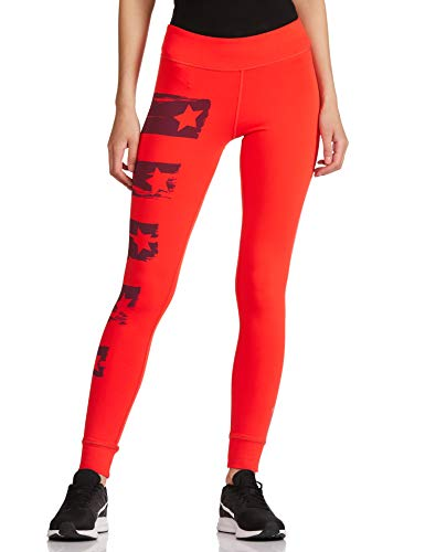 Reebok Damen Trainingshose Yoga Painted Tights, rot (Laser Red), L von Reebok