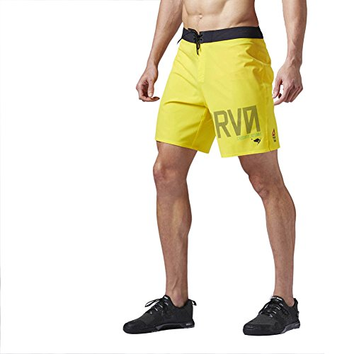 Reebok Herren Crossfit Super Nasty Hero Surfer/Board-Shorts Surfershorts, Yellow Spark, 46 Zoll von Reebok