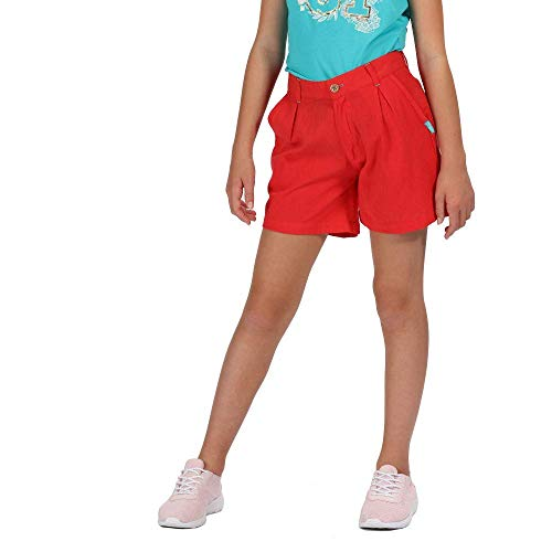 Regatta Kinder Damita Coolweave Cotton Vintage Look Short, Coral Blush, 13 Jahre von Regatta