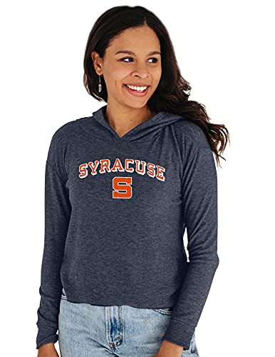 Reserve Collection by Blue 164 NCAA Syracuse Orange Damen Bauchfreies Top Vault Hoodie, Syracuse Orange Navy, XXL von Reserve Collection by Blue 616