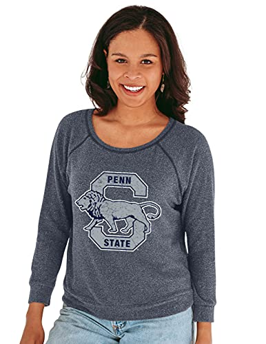 Reserve Collection by Blue 330 NCAA Penn State Nittany Lions Damen 3/4 Raglanärmel Vault Hacci Stoff Tee Penn State Nittany Lions Navy, Größe S von Reserve Collection by Blue 616