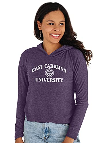 Reserve Collection by Blue 616 NCAA East Carolina Pirates Damen-Kapuzenpullover, bauchfrei, Größe XL von Reserve Collection by Blue 616