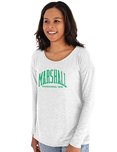 Reserve Collection by Blue 616 NCAA Marshall Thundering Herd Damen Sweatshirt mit Rundhalsausschnitt, Gr. M, Weiß von Reserve Collection by Blue 616