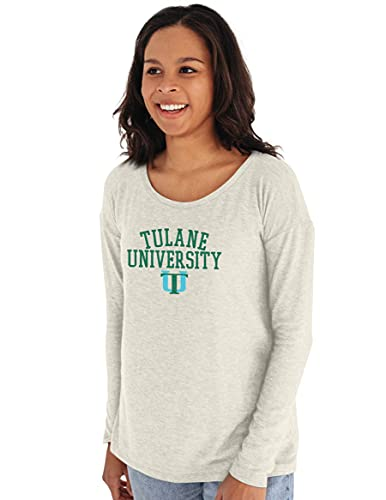 Reserve Collection by Blue 616 NCAA Tulane Green Wave Damen Sweatshirt mit Rundhalsausschnitt, Tulane Green Wave Elfenbein, Größe XL von Reserve Collection by Blue 616