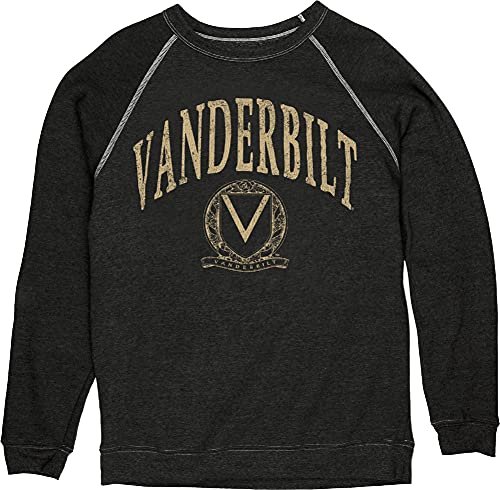 Reserve Collection by Blue 616 NCAA Vanderbilt Commodores Herren Vintage Tri-Blend Crewneck Sweatshirt Vault, Vanderbilt Commodores Schwarz, XXL von Reserve Collection by Blue 616