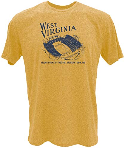 Reserve Collection by Blue 715 NCAA West Virginia Mountaineers Herren Vintage Mock Twist Vault T-Shirt West Virginia Mountaineers Gold, Größe S von Reserve Collection by Blue 616