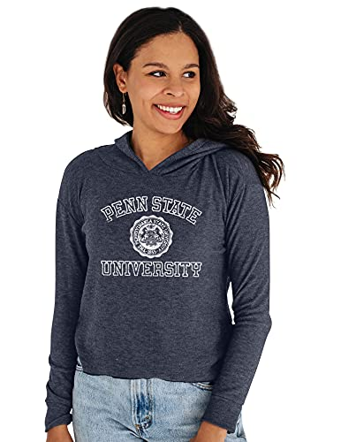 Reserve Collection by Blue 92 NCAA Penn State Nittany Lions Damen Bauchfreies Top Vault Hoodie, Penn State Nittany Lions Marineblau, Größe L von Reserve Collection by Blue 616