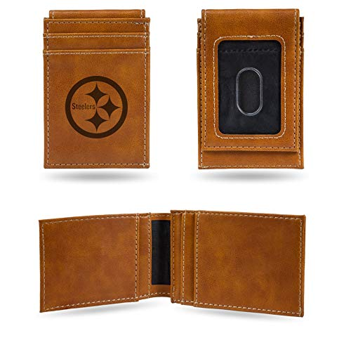 NFL Rico Industries Laser Engraved Front Pocket Wallet, Pittsburgh Steelers von Rico Industries
