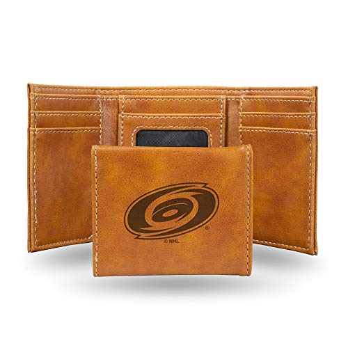 NHL Rico Industries Laser Engraved Trifold Wallet, Carolina Hurricanes von Rico Industries