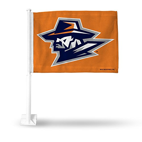 Rico Industries NCAA UTEP Miners Autoflagge, Orange, mit weißem Stab von Rico Industries