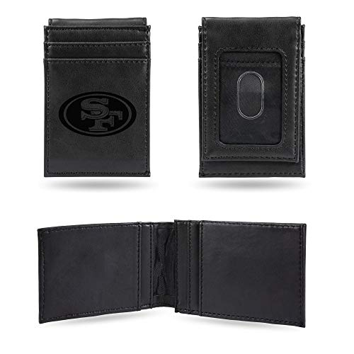 NFL Rico Industries Laser Engraved Front Pocket Wallet, San Francisco 49ers von Rico Industries
