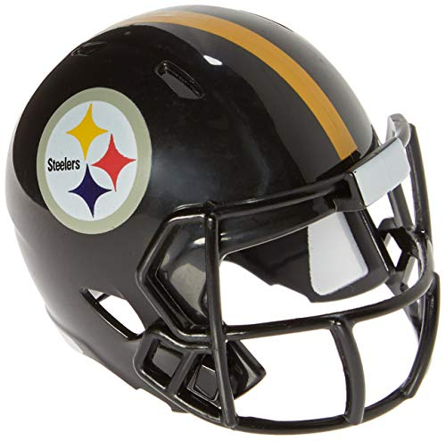 Riddell Mini-American-Football-Helm, NFL-Team: Pittsburg Steelers, im Taschenformat, Speed Pocket von Riddell