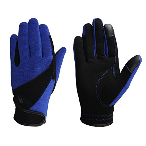 Riders Trend Damen 4 Way Touch Screen Handschuhe, Black/Royal Blue, XX-Small von Riders Trend