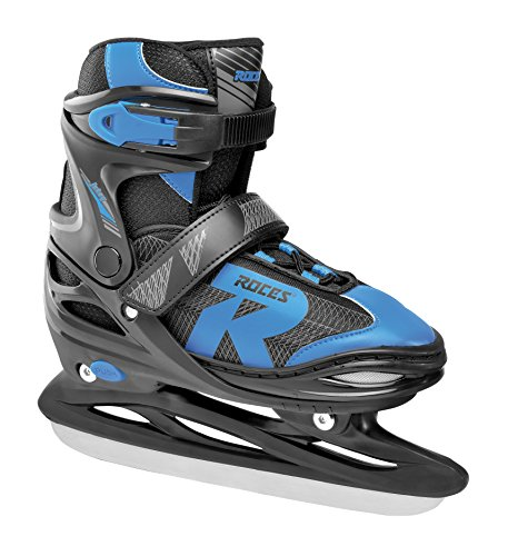 Roces Kinder Jokey Ice 2.0 Verstellbarer Schlittschuh, Black/Astro Blue, 30-33 von Roces