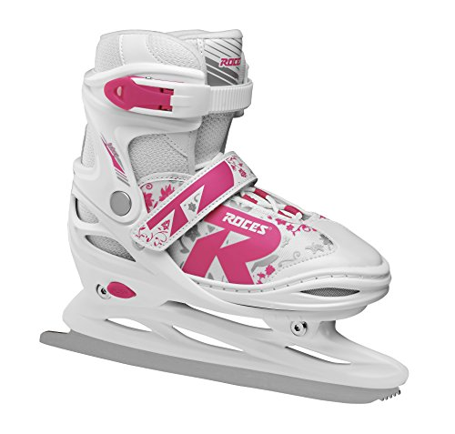 Roces Kinder Jokey Ice 2.0 Verstellbarer Schlittschuh, White/Fuchsia, 38-41 von Roces