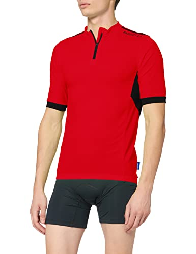 Rogelli Men's Perugia 2.0 Cyclingjersey, Black/Red, X-Large von Rogelli