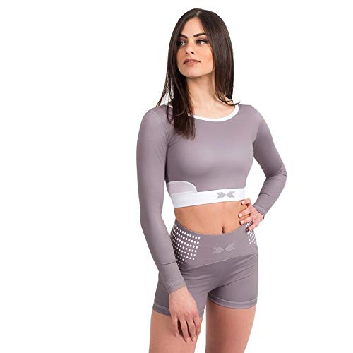 SWEDISH FALL LIFTING ATHLETES Damen Sports Bra, Grau (Platinum), M von SWEDISH FALL LIFTING ATHLETES