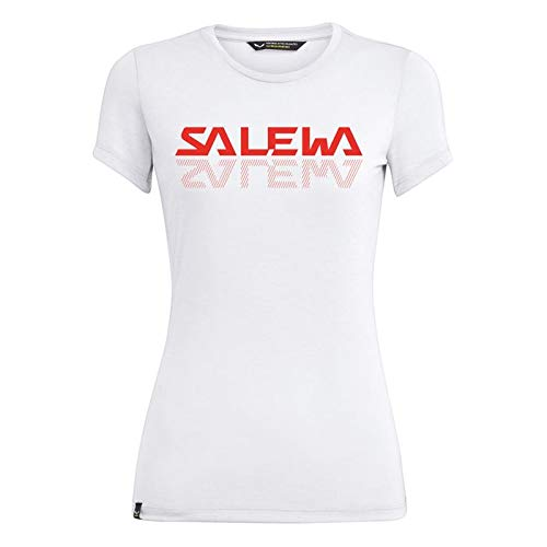 Salewa Damen Blusen und T-Shirts Graphic Dri-Rel W S/Tee, Optical White, 42/36, 00-0000027751 von Salewa