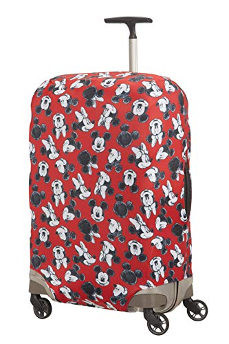 Samsonite Global Travel Accessories Disney Lycra Kofferhülle, M, rot (mickey/minnie red) von Samsonite