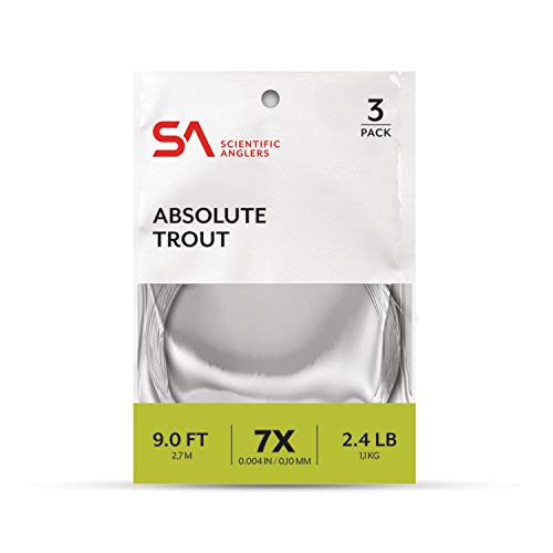 SA Absolute Trout Leader, 7.5ft, 1X - 3PK von Scientific Anglers
