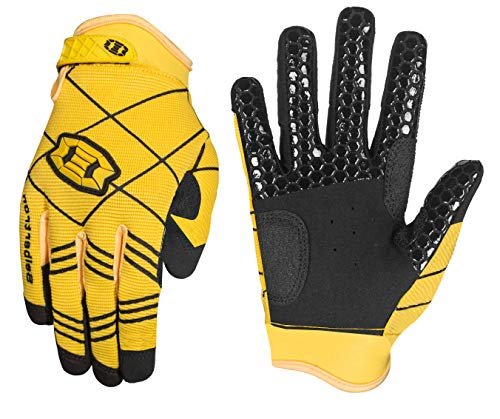 Seibertron B-A-R PRO 2.0 Signature Baseball/Softball Schlagmann Batting Handschuhe Gloves Super Grip Finger Fit for Erwachsener Yellow L von Seibertron