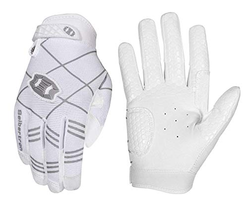 Seibertron B-A-R PRO 2.0 Signature Baseball/Softball Schlagmann Batting Handschuhe Gloves Super Grip Finger Fit for Jugend/Kinder White S von Seibertron