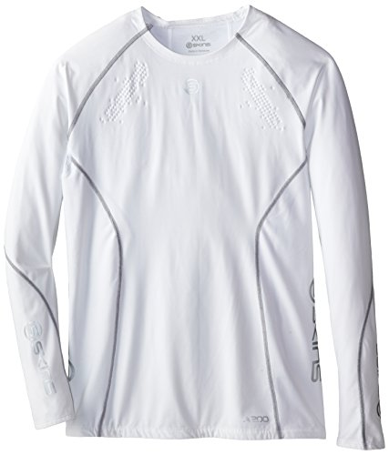 Skins Herren Mens Top Long Sleeved A200, White, S, B60005005S von Skins