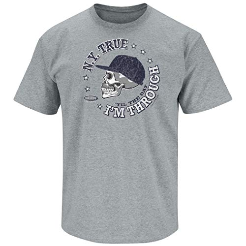 Smack Apparel New York Baseball-Fans. N.Y. True 'Til The Day I'm Through T-Shirt, Gr. S - 5X, Grau, Herren, grau, X-Large von Smack Apparel