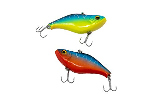 Smartbaits Smart Vibe 75 Lipless Farbwechsel Crankbait (1 PK) (Midnight Reefer & Chartreuse to Blood Red) von Smartbaits