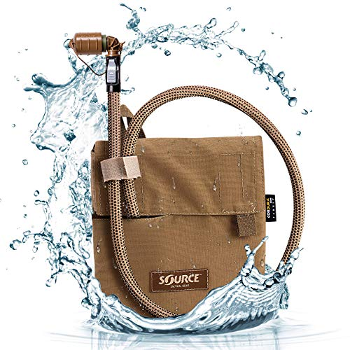 Source Tactical Kangaroo 1L Collapsible Canteen with Pouch Trinksystem, Coyote, 1 Liter / 32 oz von Source Tactical