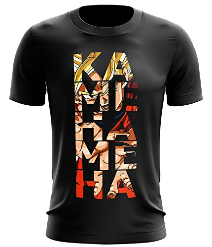 Stylotex Fitness T-Shirt Herren Sport Shirt Kamehameha Gym Tshirts für Performance beim Training | Männer Kurzarm | Funktionelle Sport Bekleidung, Größe:XXL, Farbe:schwarz von Stylotex