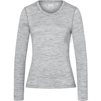 Super.Natural Damen Base 175 Longsleeve (Größe L, Grau) von Super.Natural