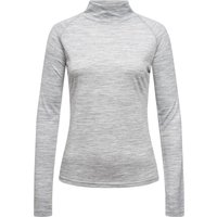Super.Natural Damen Base Turtle Neck 175 Longsleeve (Größe L, Grau) von Super.Natural