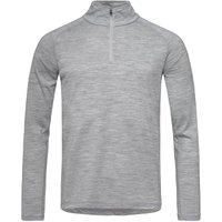 Super.Natural Herren Base 175 1/4 Zip Longsleeve (Größe M, Grau) von Super.Natural