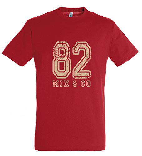 Supportershop Shirt rot 82 Mix and Co Kinder 8 Jahre rot von Supportershop