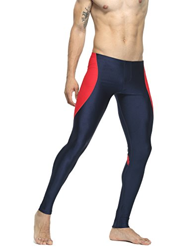 TAUWELL Herren Fitness Hose Shorts Compression Leggings (6122 Marine rot, XL(86-91cm)) von TAUWELL