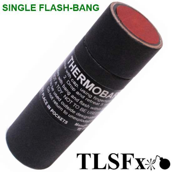 TLSFx Paintball / Airsoft Single-Flash-Bang Granate (Reibz?nder) von TLSFx Pyrotechnics