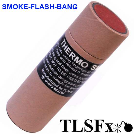 TLSFx Paintball / Airsoft Smoke-Bang Granate (30 Sek.) von TLSFx Pyrotechnics