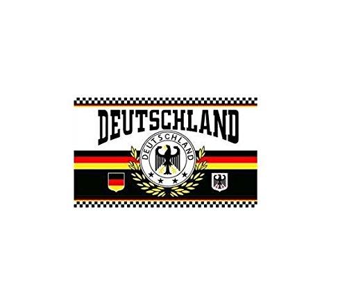 D1 Deutschland 4 Sterne Fahne weiß 90 x 150cm
