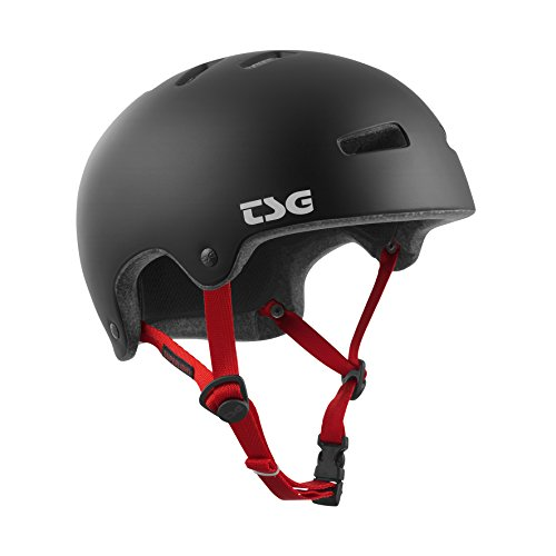 TSG Erwachsene Superlight Solid Color Helm, Satin Black, S/M von TSG