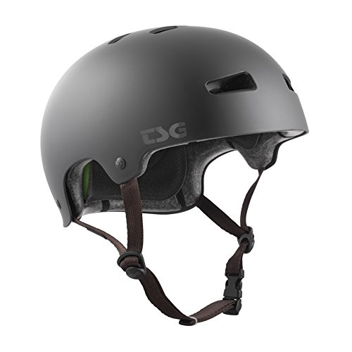 TSG Kinder Kraken Solid Color Helm, Satin Black, XXS/XS von TSG