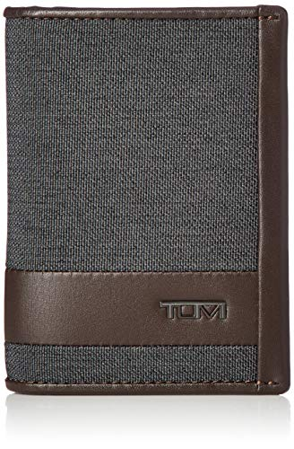 TUMI - Alpha Gusseted Card Case Wallet for Men - Anthrazit/Braun von TUMI