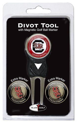 Team Golf NCAA South Carolina Gamecocks Divot Tool with 3 Golf Ball Markers Pack, Markers Are Removable Magnetic Double-Sided Enamel von Team Golf