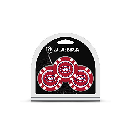 Team Golf NHL Montreal Canadiens Golf Chip Ball Markers (3 Count), Poker Chip Size with Pop Out Smaller Double-Sided Enamel Markers von Team Golf