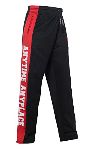 Throwdown Herren Anytime Sweat Pants, scharz/Rot, M von Throwdown