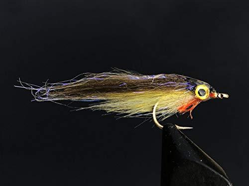 Tigofly 12 St/ück braun//Fuchsia//gelb Polar Fry langsam sinkend Lachs Forelle Steelhead Minnow Fliegen K/öder Set Gr/ö/ße #2