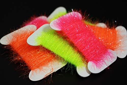 2 stücke Lametta Chenille Kristall Flash Line Fliegenbinden Material für