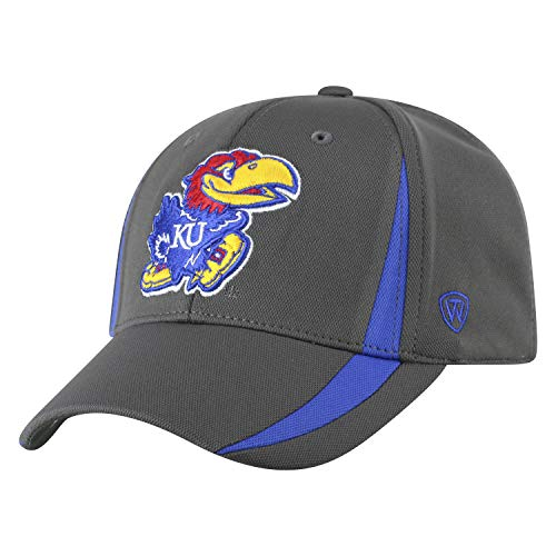 Top of the World NCAA Herren Performance Fitted Charcoal Triumph Icon Hat, Herren, NCAA Men's Performance Fitted Charcoal Triumph Icon Hat, Kansas Jayhawks Charcoal, Einstellbar von Top of the World